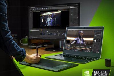 Nvidia công bố dòng laptop mới mang tên Studio để đối đầu trực tiếp với MacBook Pro