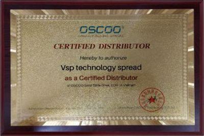 Chứng nhận Vision VSP nhà phân phối độc quyền các sản phẩm OSCCO tại Việt Nam