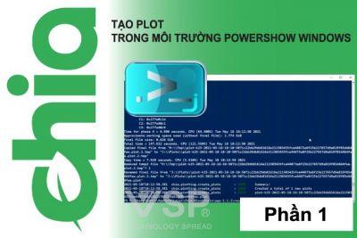 Tạo plotting bằng CLI Commands PowerShell trong Win 10