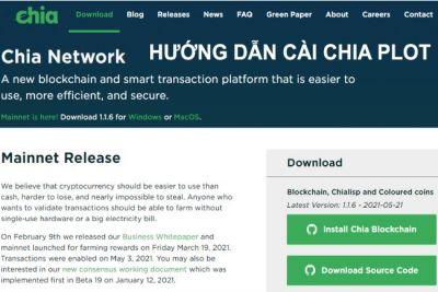 Hướng dẫn cài đặt  Chia Network (XCH) trên hệ điều hành Windows