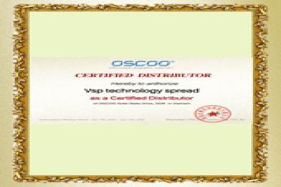 Chứng nhận Vision VSP nhà phân phối độc quyền các sản phẩm OSCCO Ttại Việt Nam