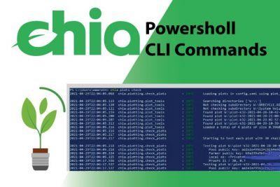 Hướng dẫn sử dụng powerShell CLI Commands Reference trong môi trường Chia blockchain