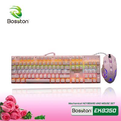 Combo bàn phím gaming mouse BosstonEK9350 PINK