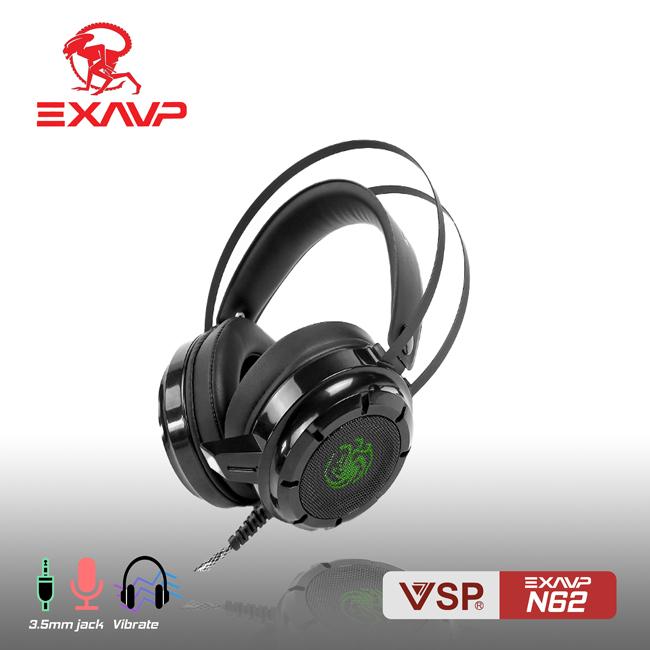 Tai nghe chụp tai chuyên game EXAVP N62 có Rung và Led Âm thanh sống động / Headphone gaming