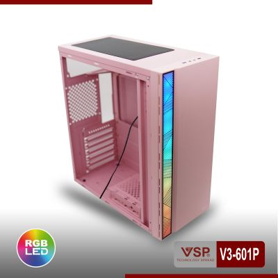 Vỏ Nguồn Máy Tính VSP V3-601P - Màu Hồng