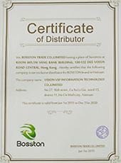 1 Certificate  Bosston